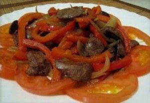Dietní potraviny kuřecí játra