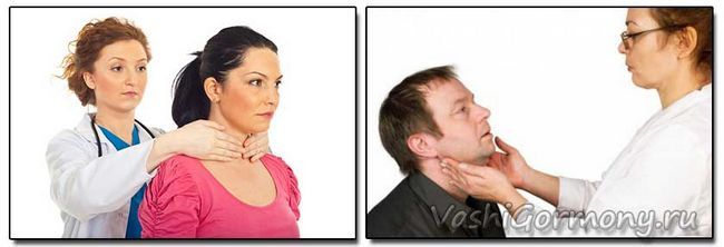 Fotografie - spôsoby prehmatanie štítnej žľazy