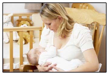 žena dojčí
