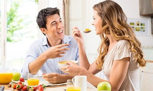 Recepce jídlo ráno
